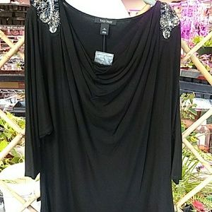 WHITE HOUSE BLACK MARKET BEADED TOP szXL